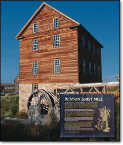 Picture of the Benson Grist Mill