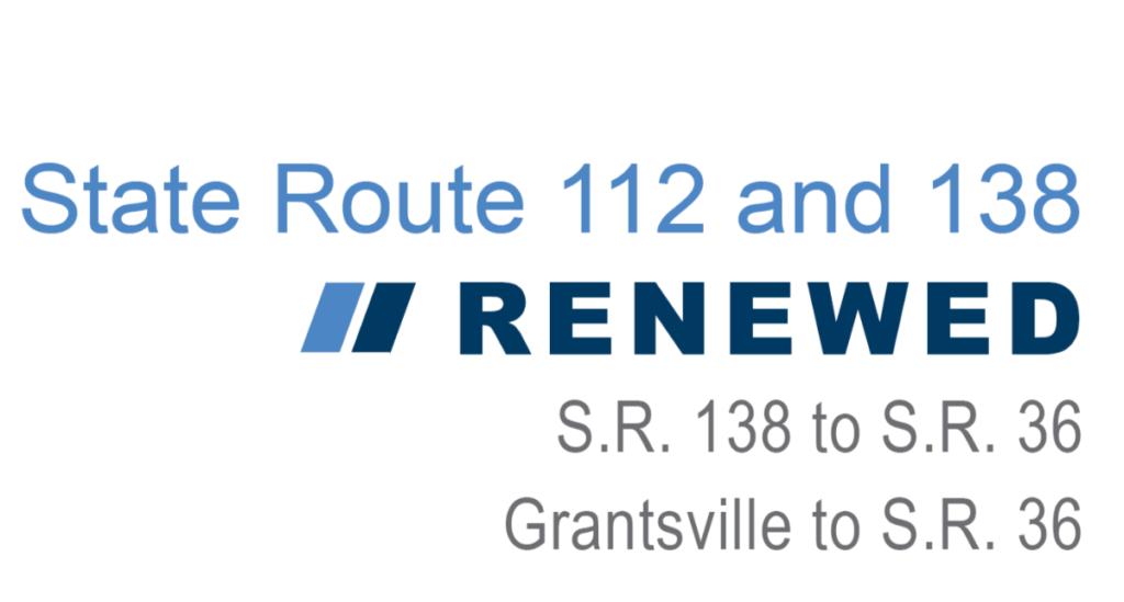 Construction Alert for SR 112 and SR 138