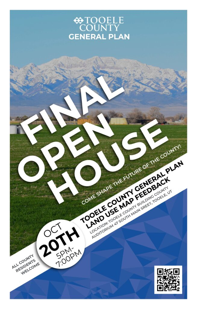 Tooele County General Plan Final Open House